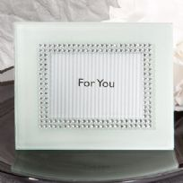 Bling Collection White Photo Frame / Place Card Holder
